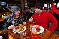 Snowshoe dining