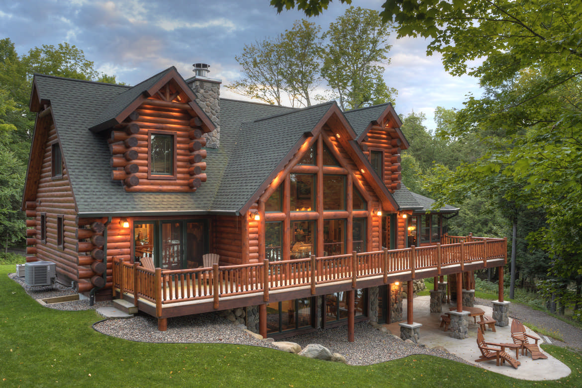 Tomahawk log and country homes inc for Creek house