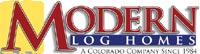 modern log homes-logo