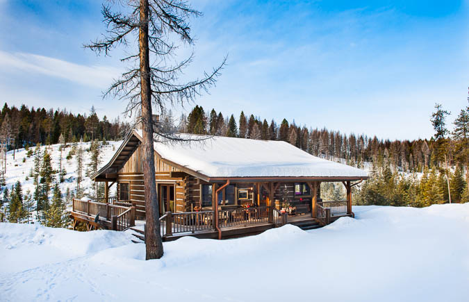 Montana log homes for Winter cabin plans