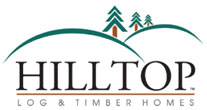 hilltop log and timber homes logo