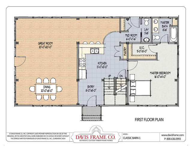Classic Barn 1a Timber Plan By Davis Frame Co
