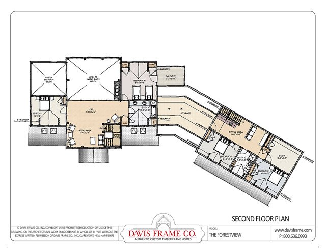 Marvelous Forest View Timber Home Plan By Davis Frame Co Mywoodhome Com Largest Home Design Picture Inspirations Pitcheantrous