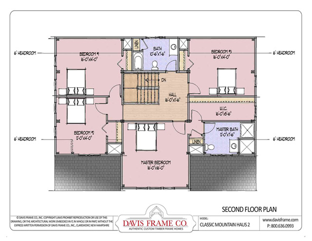 Classic mountain haus 2 timber floor plan by davis frame for Davis homes floor plans