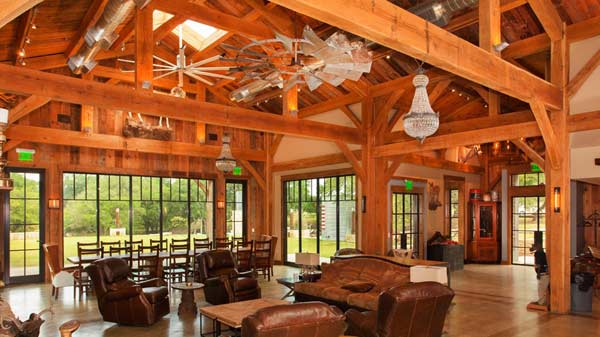 Texas timber frames for Timberframe home