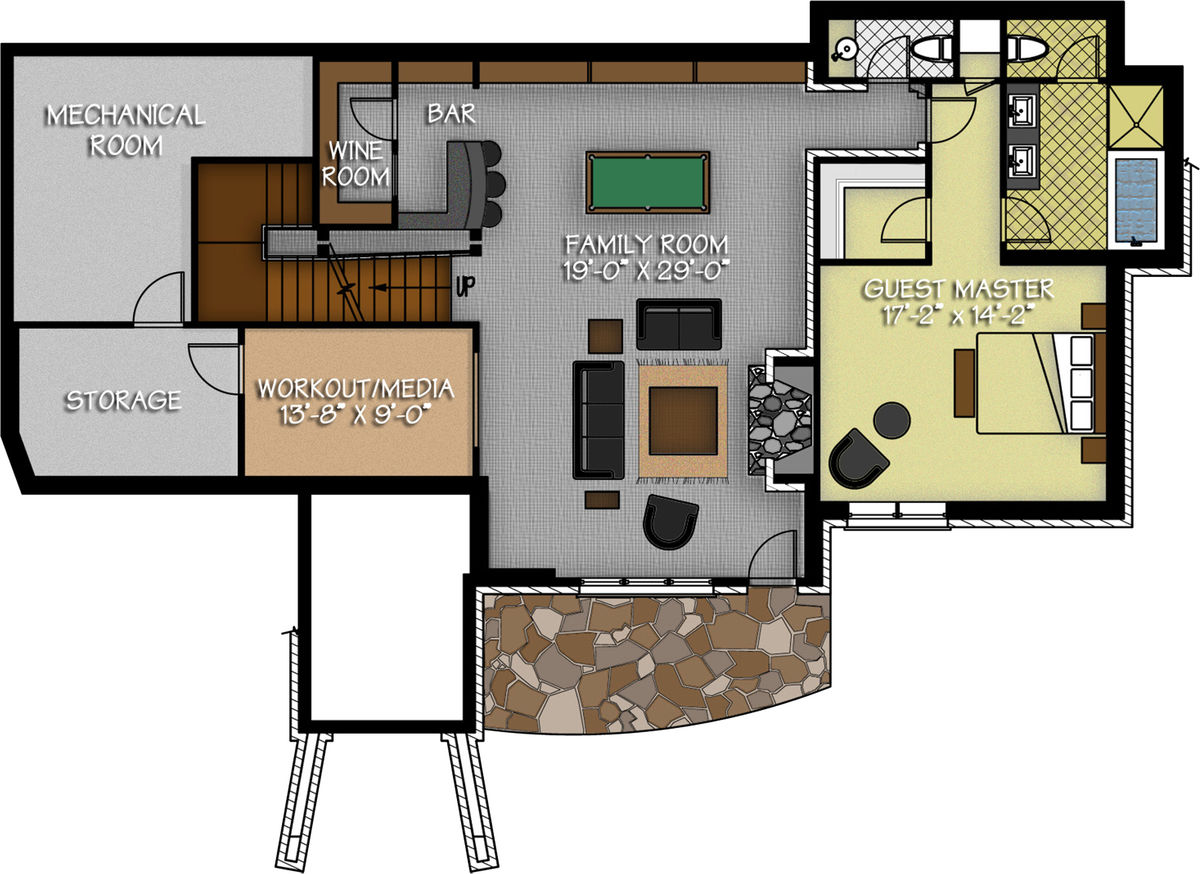 The dakota ridge floor plan by canadian timberframes ltd for Canadian house plans with basements
