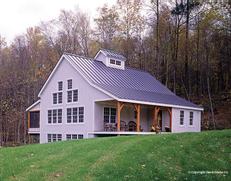 Classic Homestead 1 Timber Home Plan By Davis Frame Co