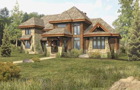 Modern log home floor plans for Wisconsin log cabin