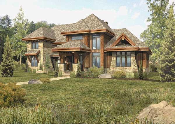 Tamarack Hybrid Home Floor Plan By Wisconsin Log Homes