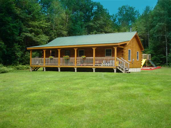 Franklin Log Home Plan By Coventry Log Homes Inc