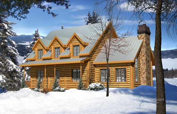 Adirondack Log Home Plan By Timber Block