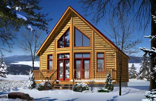 Aspen log home plan by timber block for Aspen home design