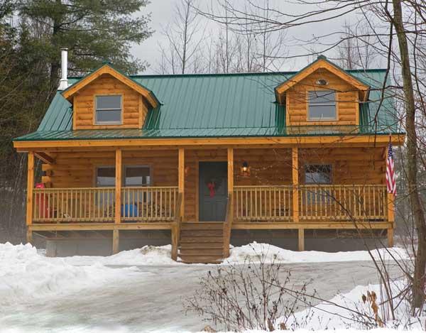 Fairfield Log Home Plan By Coventry Log Homes Inc