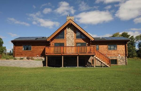 Leed Greenbriar Log Home Plan