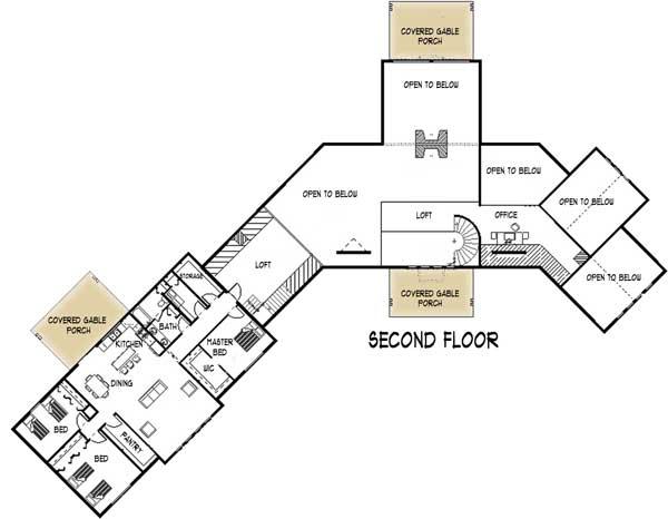 Summit Log Home Plan