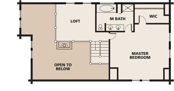 Robinson log home plan for Robinson house plans