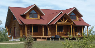Rosewood log home plan for Rosewood house plan