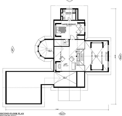Reflections log home plan by true north log homes for True homes floor plans