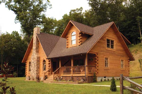 Doe Run Log Home Plan