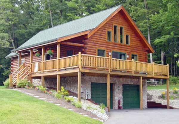 Riverside Log Home Plan By Coventry Log Homes Inc
