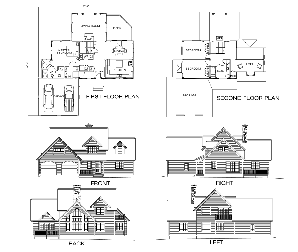 Tahoe Timber Frame Floor Plan by Timberpeg - MyWoodHome.com