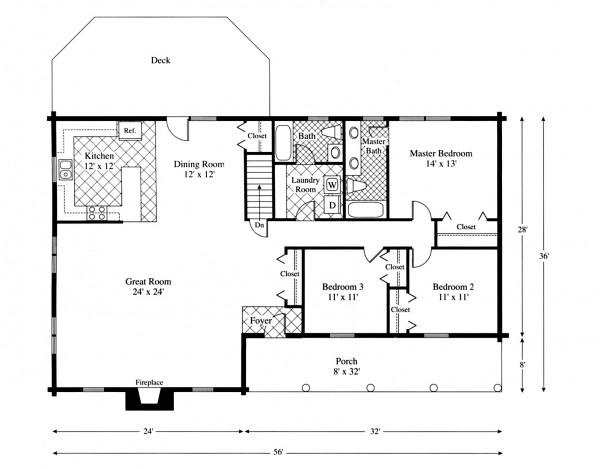 Ranch house plans for Santa fe home plans