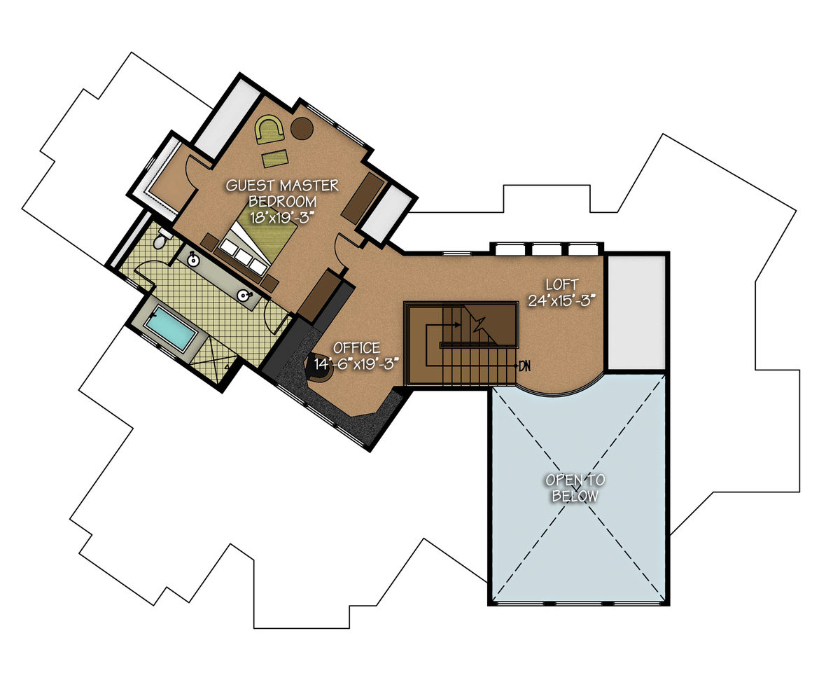 The aspen peak floor plan by canadian timber frames ltd for A frame house plans canada