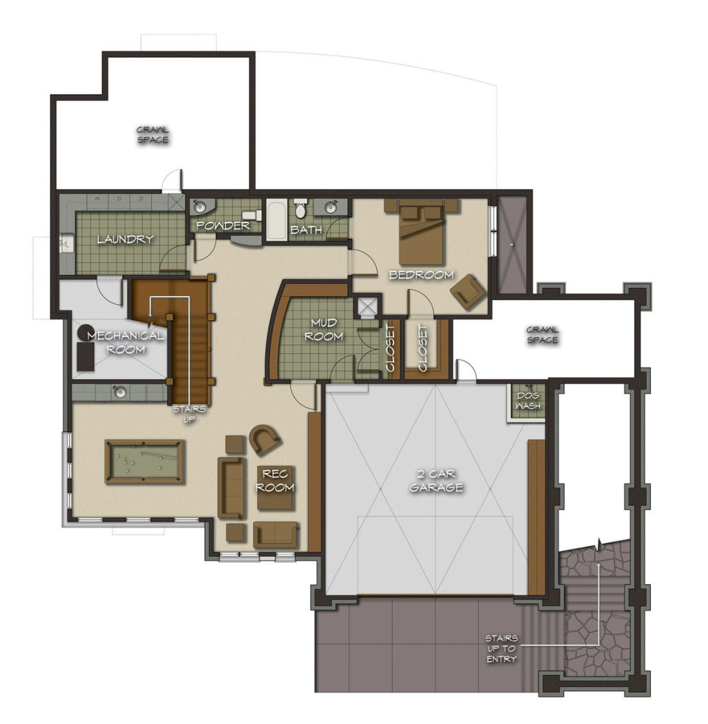 The castle rock floor plan by canadian timber frames ltd for Canadian house plans with basements