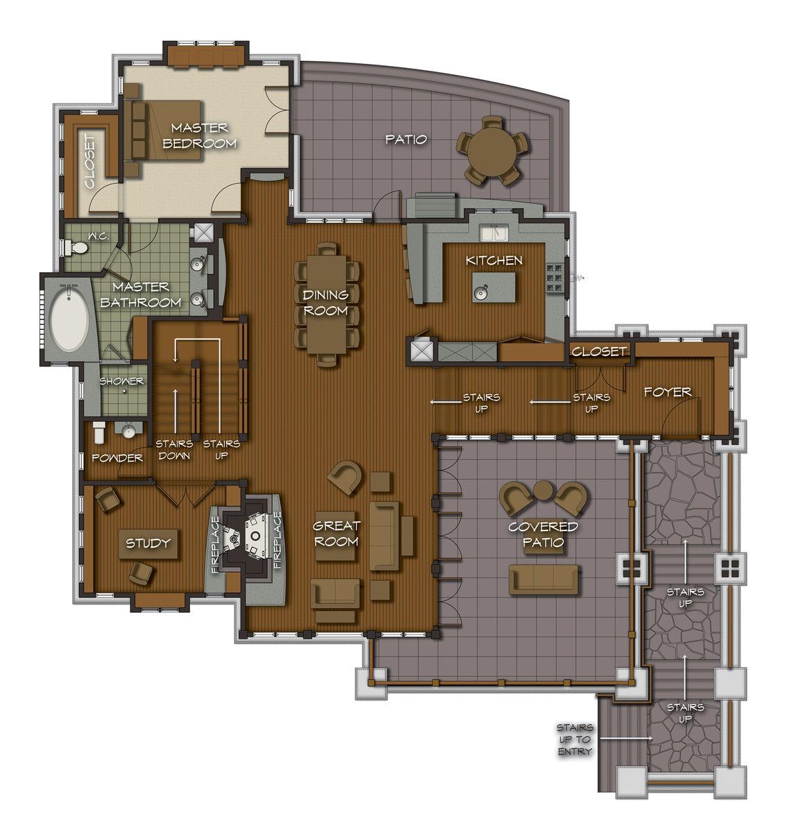 Castle rock home floor plans for Castle floor plans