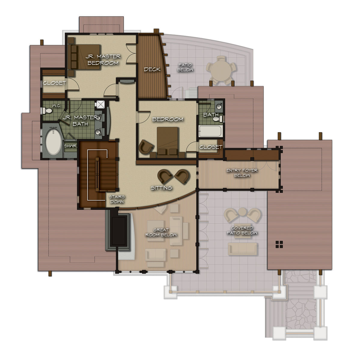 The castle rock floor plan by canadian timber frames ltd for Castle rock floor plans