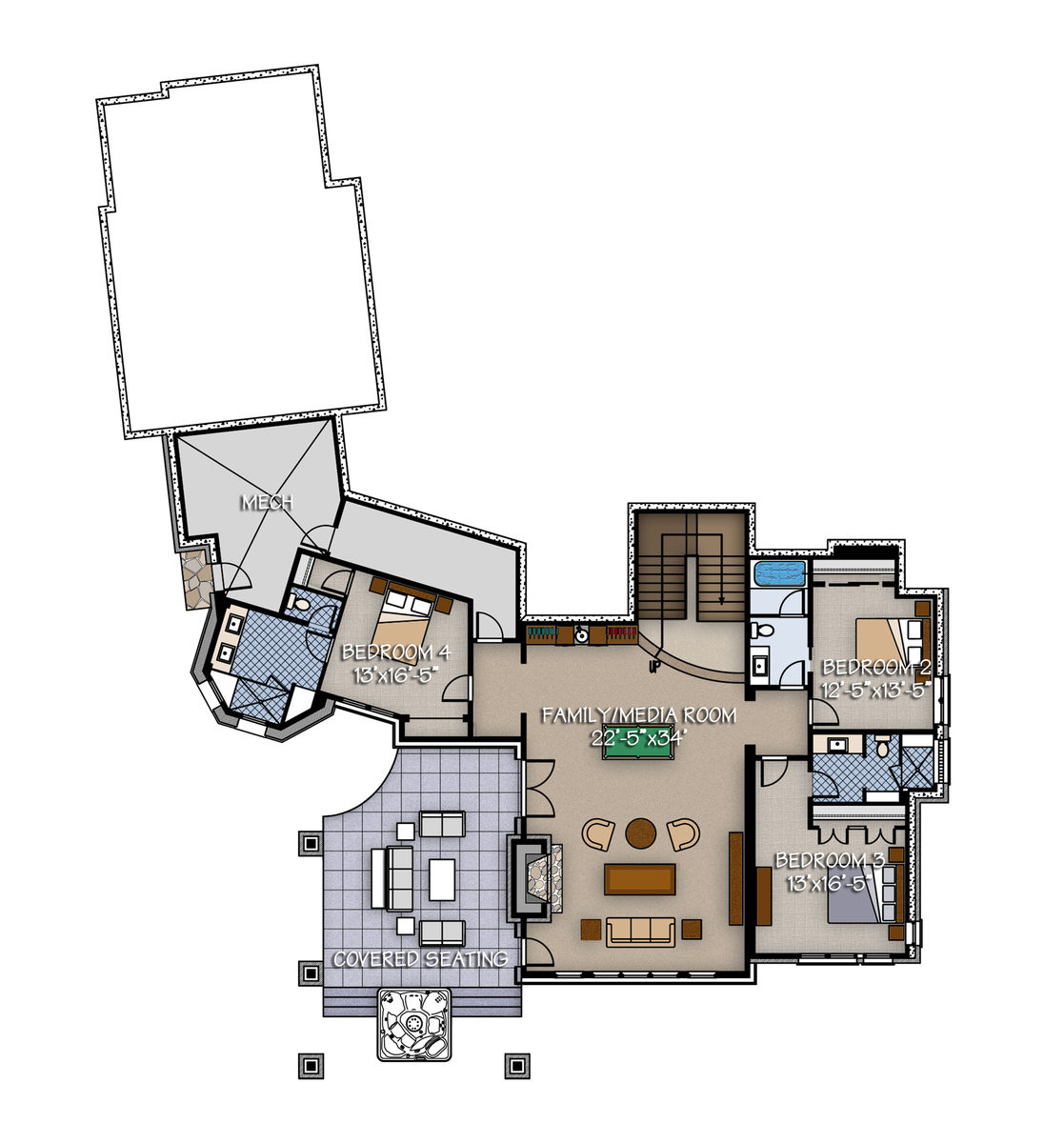 sanctuary timber frame home floor plan by canadian timber frames ltd