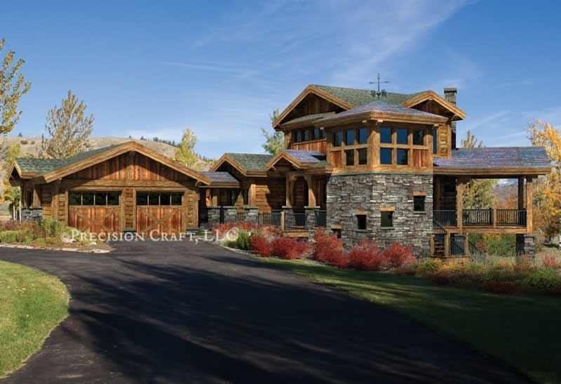 Colorado home plan by precisioncraft log timber homes for Colorado home plans