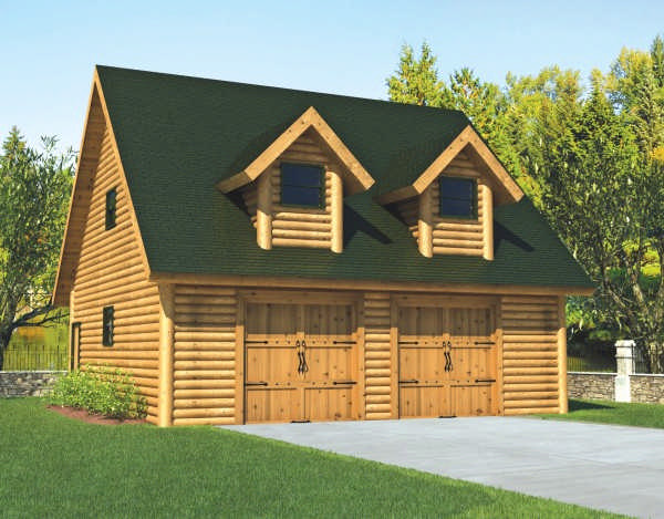 Garage plan for Log cabin style garages