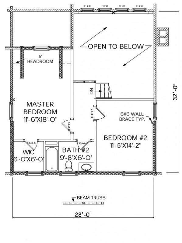 Adirondack home plan for Adirondack floor plans