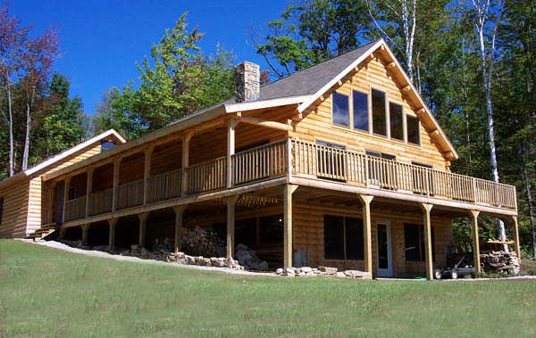 Mountain view home plan by coventry log homes for Mountain view home plans