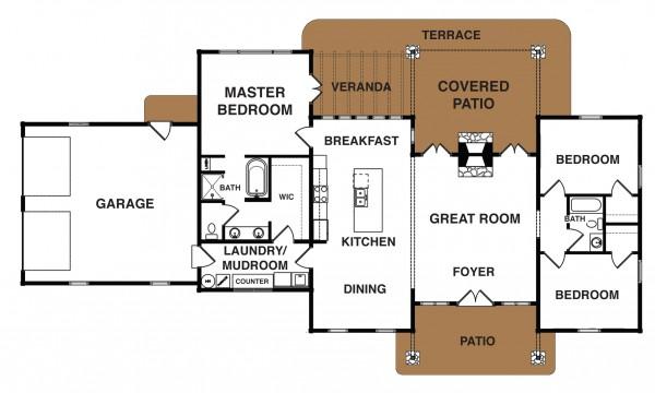 Cottonwood Home Plan MyWoodHome