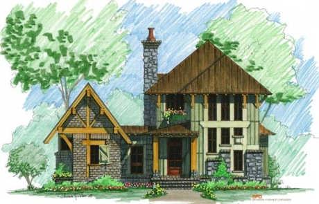 cozy mountain camp home plan