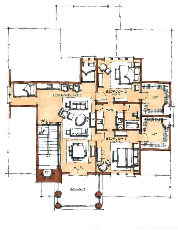 Luxury timber home floor plans for Luxury timber frame house plans