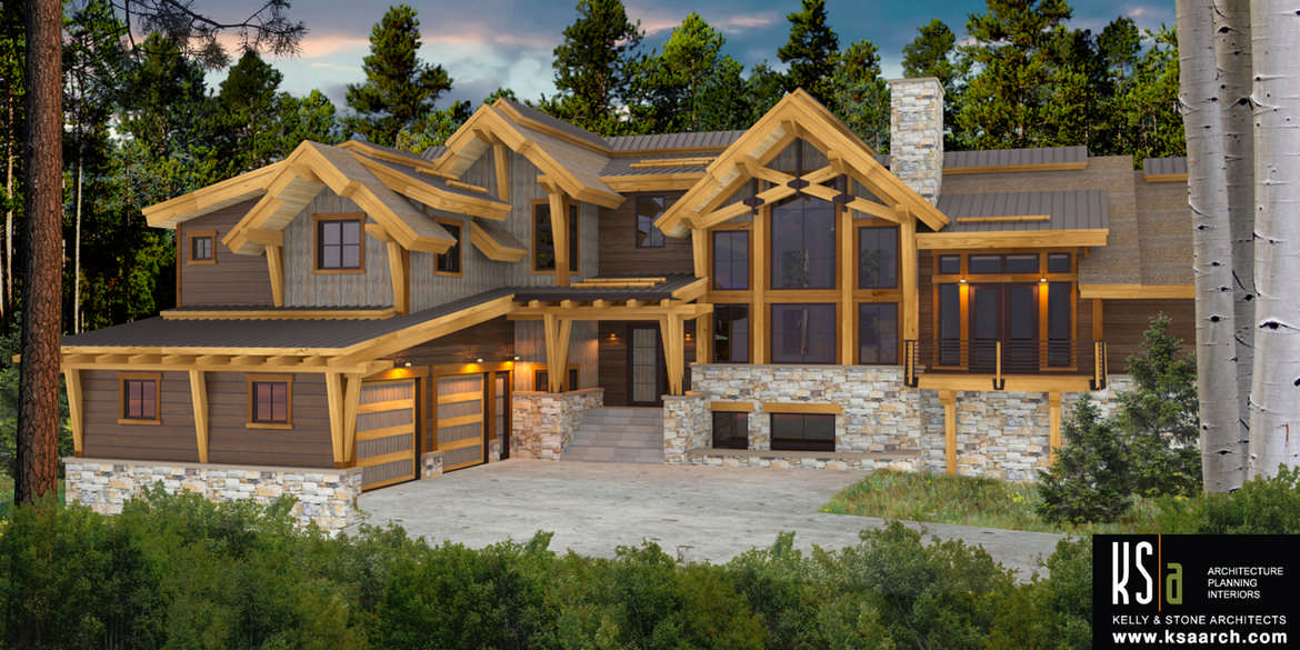 Bow river floor plan by canadian timber frames ltd for Luxury timber frame home plans