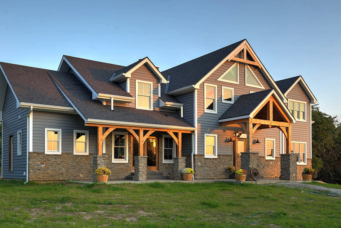Timber frame homes plans quebec house design plans for Timber home floor plans