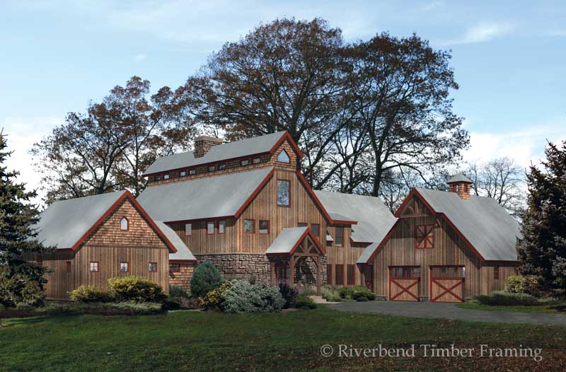 Timber barn floor plans for Simple barn home plans
