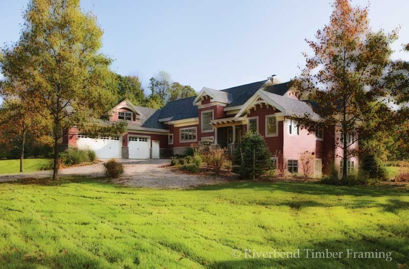 lexington home plan by riverbend timber framing
