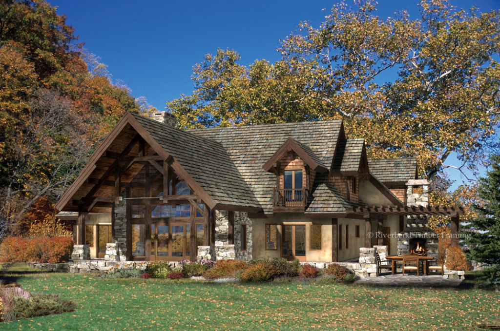Sonoma hills home plan by riverbend timber framing for Timber frame house plans designs