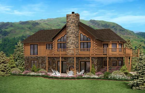 North Carolina Home Plan By Golden Eagle Log Homes