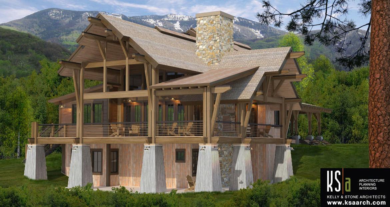 Crested butte floor plan by canadian timber frames ltd for Timber frame floor