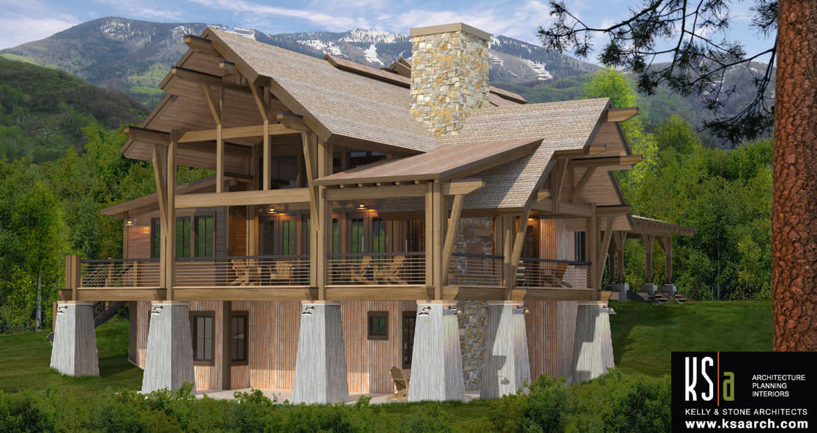 Crested butte floor plan by canadian timber frames ltd for A frame house plans canada