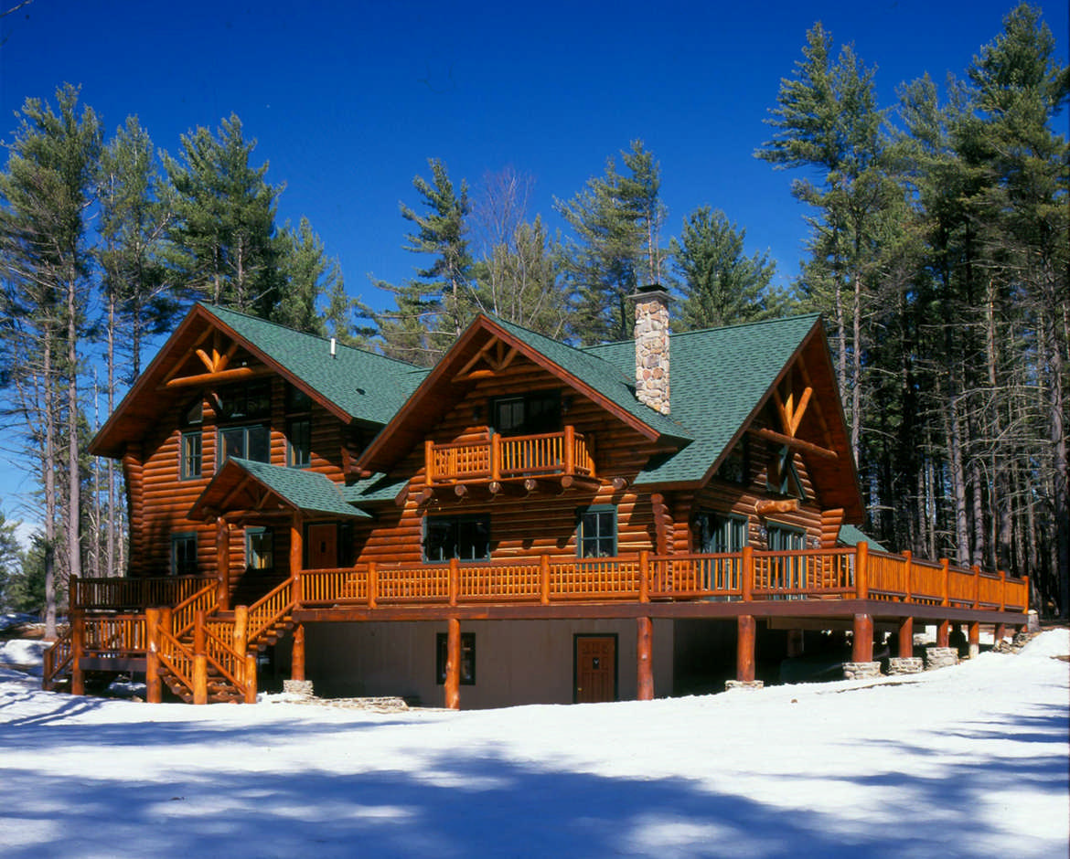 Hiawatha Log Homes Floor Plans Archives - MyWoodHome.com