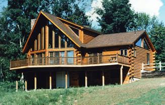 Log home cabin floor plans for Traditional log cabin plans