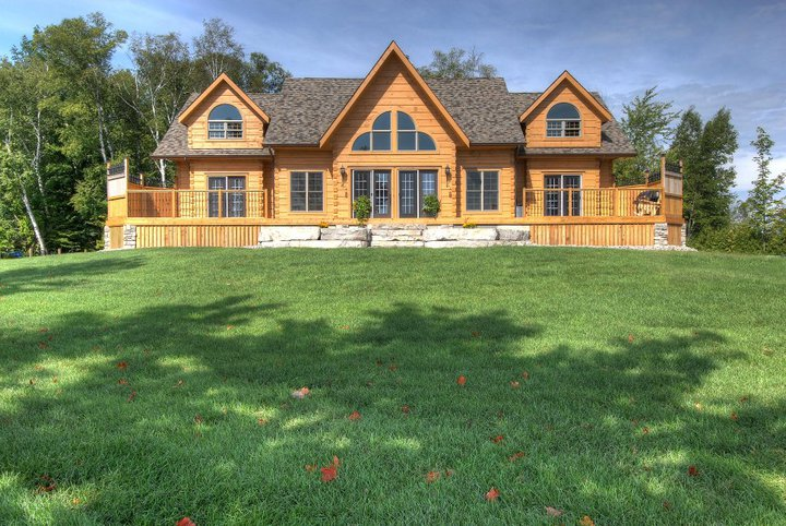 Luxury log home floor plans for Log cabins victoria