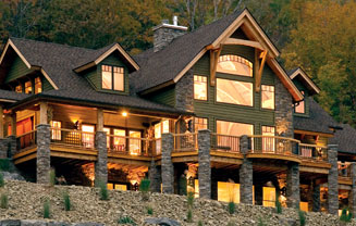 Timber frame floor plans for Luxury timber frame house plans